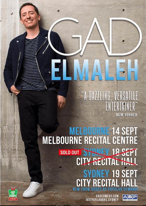 Gad affiche 2 - Interview with Gad Elmaleh for FrenChicTouch...