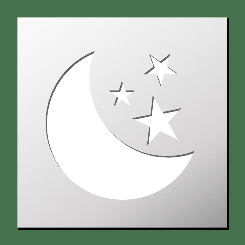Pochoir Lune Et Etoiles Frenchimmo