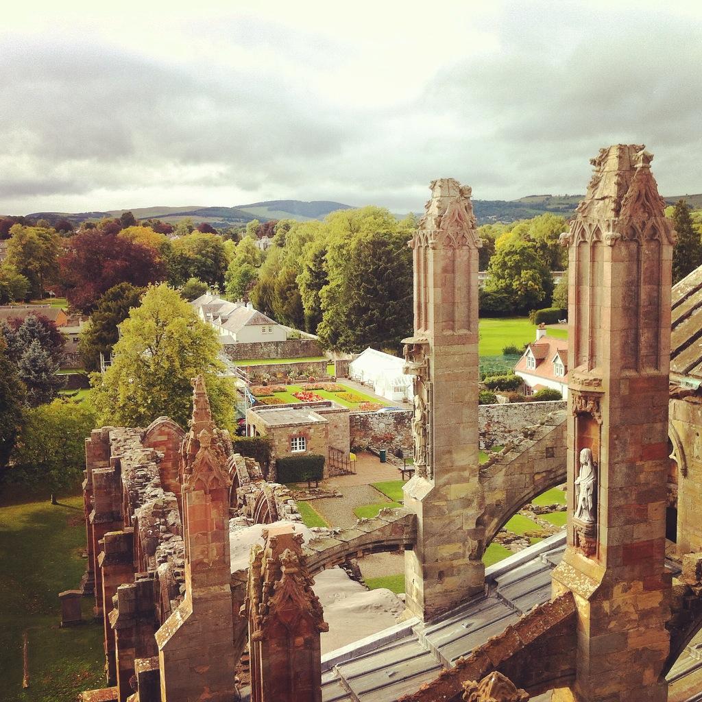 Melrose Abbey, dans la région des Borders.