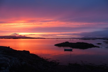 arisaig sunset scotland
