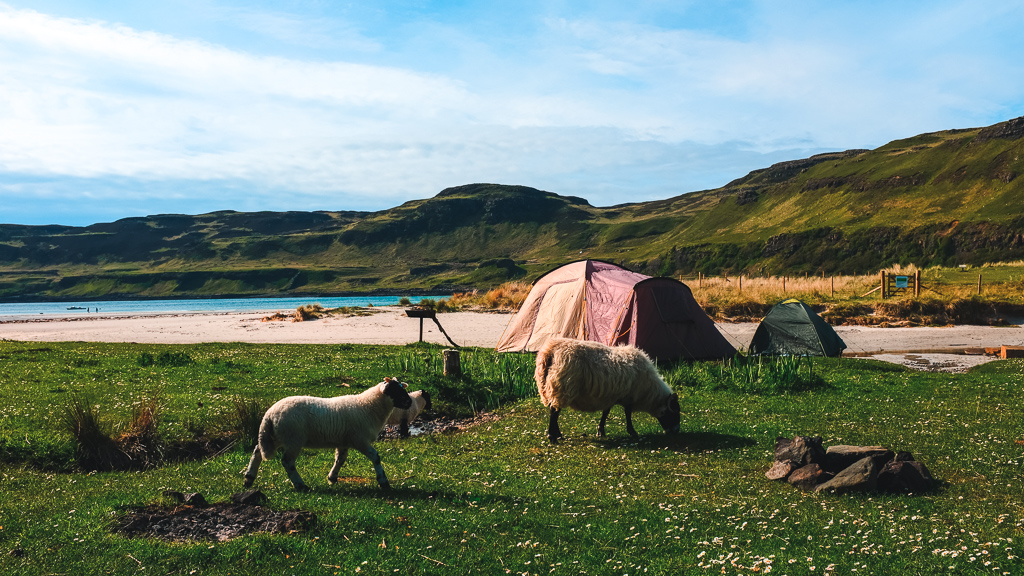 Gabrielle Auguste camping Ecosse