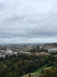 vue depuis le château d'Edimbourg