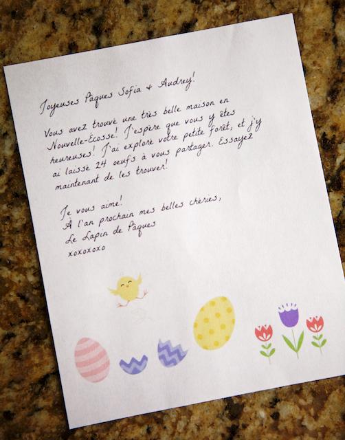 Message du Lapin de Pâques
