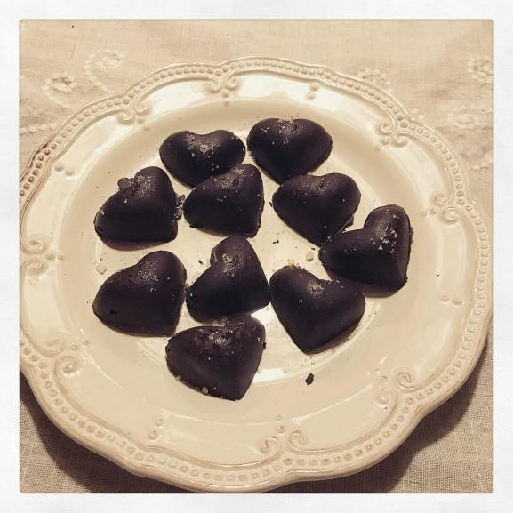 Chocolat au caramel et fleur de sel