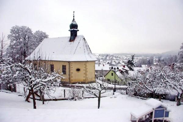 La neige est tombée sur le Sundgau à Hirtzbach © French Moments
