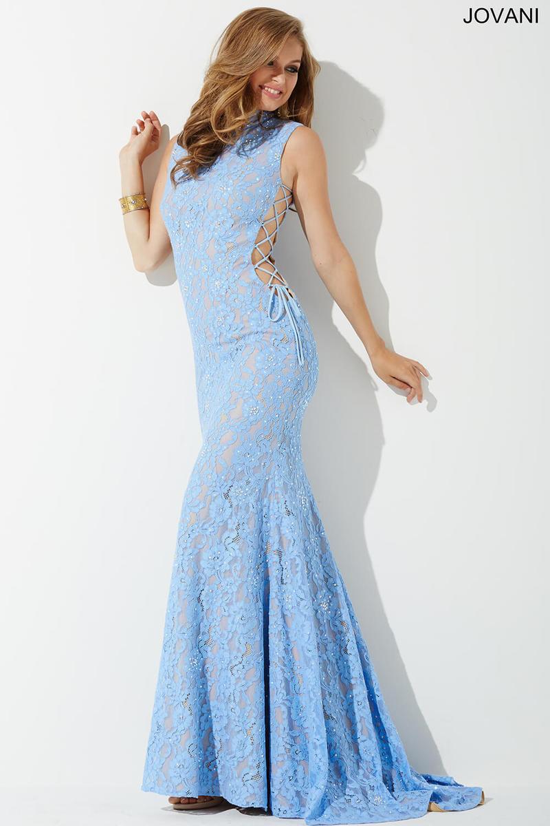 Jovani 37469 Lace Side Corset Prom Dress: French Novelty