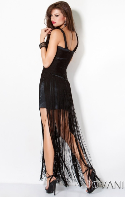 a6fcfb22 of the jovani unique cocktail prom dress with long fringe 173024 image