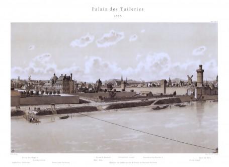Paris Wall Art Palais Des Tuileries 1585 Figure 1 5 Paris Bedroom Decor French Country Decor Gift For Architect