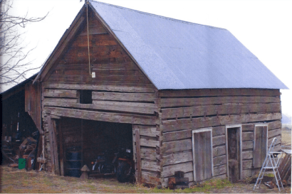 The cabin on the Peterson farm in 2005.