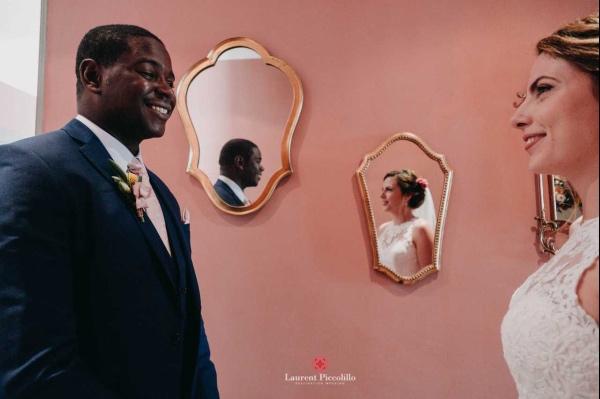 premier regard les mariés