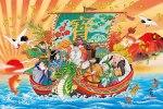 Kobe, pèlerinage des Sept Dieux du Bonheur 七福神