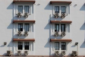 air conditioner on building