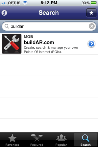 Search and add the BuildAR layer