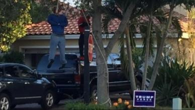Donald Trump Supporters Hang Black Dummies in Front Yard for Halloween