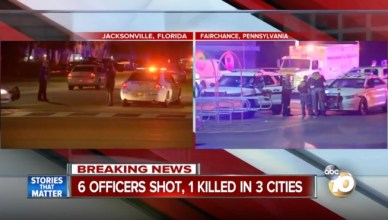 6 Police Officers Shot, 1 Killed In 3 Cities!