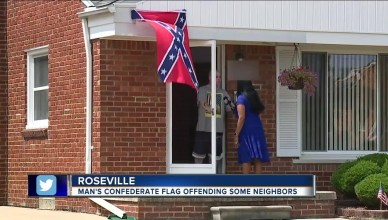 "Detroit Man Flying A Confederate Flag Says ""Black people Aren't Welcome!"""