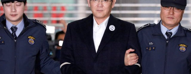 Heir to the Samsung Empire Sentenced to Five Years in Prison for Corruption