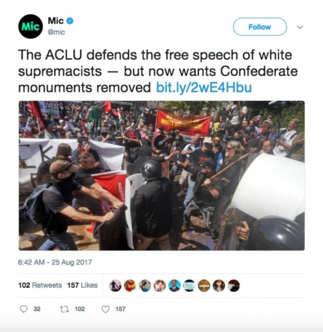 ACLU Mobilizing to Remove Confederate Monuments