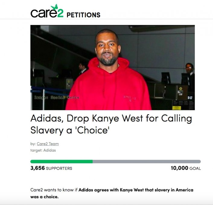 Petition Launched to Get Adidas to Drop Kanye