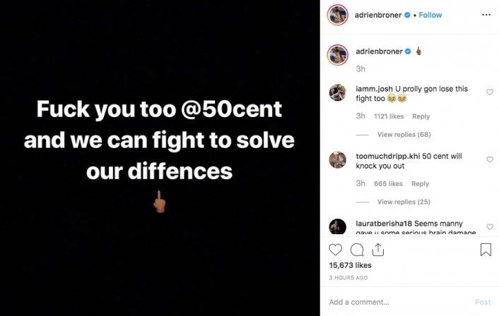 50 Cent Blocked Adrien Broner and Broner Responds