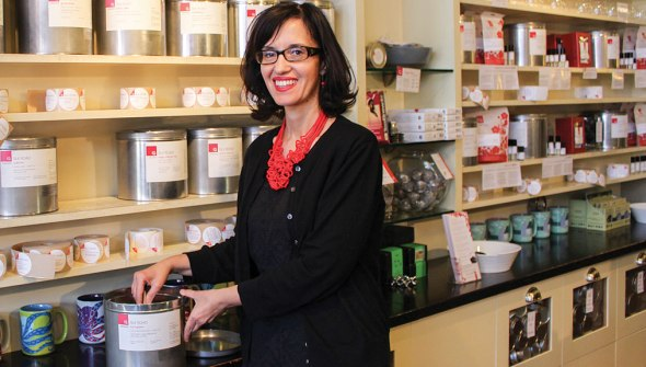 Daniela Cubelic founded Silk Road Tea in 1992 when she was twenty-two. (Photos: Jessica Natale Woollard.)