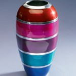 Fair Trade bright recycled vase