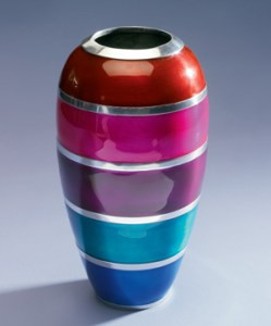 Fair Trade enamel vase