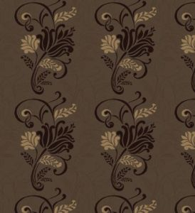 Magdelena chocolate flock wallpaper