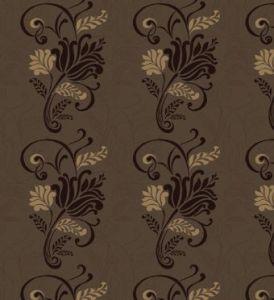 Magdelena chocolate flock wallpaper