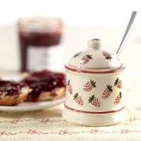 Strawberry design jam pot