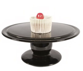 Contemporary black cake stand