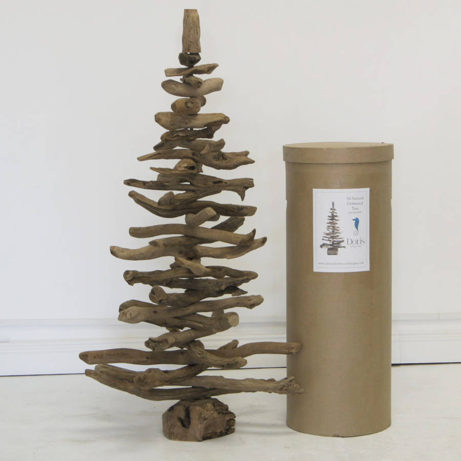 Original 5ft driftwood Christmas tree designed by Karen Miller - a wonderful alternative to a traditional yuletide tree