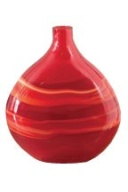 Next red swirl bottle vase