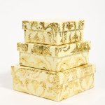 Square gold storage box set