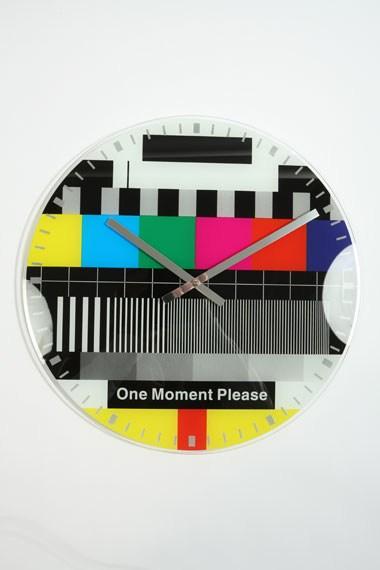 Funky test card clock