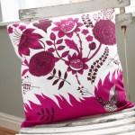 Vibrant wild birdsong cushion