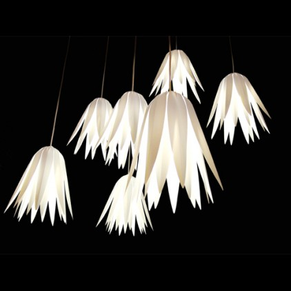 Hanging flower light shade from Bouf