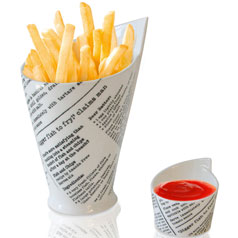 French fries chip and dip set