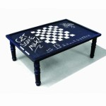 Quirky chalkboard coffee table by Duffy London