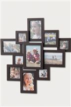 Large chocolate brown collage photo frame from Next
