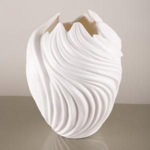 Stylish swirl vase