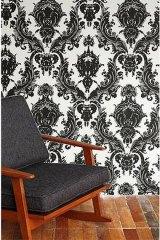 black-damask-temporary-wallpaper