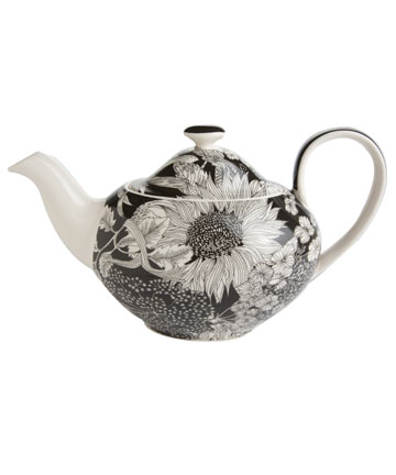 Liberty for Target Dunclare black print teapot