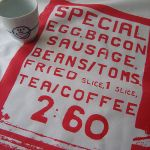 Full English breakfast tea towel