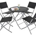 Black rattan four piece patio set