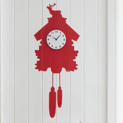 Kitsch vinyl wall sticker clock
