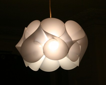 Contemporary swirl light shade