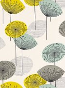 Chaffinch blue dandelion clocks wallpaper sanderson