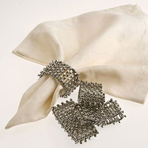 Dress your table with beaded napkin rings