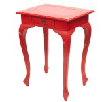 Red French style side table